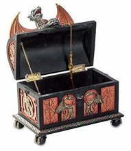 Load image into Gallery viewer, Stunning Dragon with Sword Trinket Box Fantasy Art Ornament Secret Stash