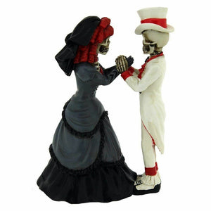 Devoted To You Skeleton Couple Figurine Statue Ornament Wedding Gift
