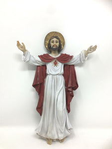 Risen Jesus Christ Resin Plaque Religious Wall Ornament Easter