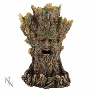 Tree Spirit Statue Wiccan Backflow Incense Burner Witchcraft Figure Figurine