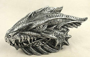 Silver Effect Dragon Box Fantasy Art Statue Sculpture Ornament