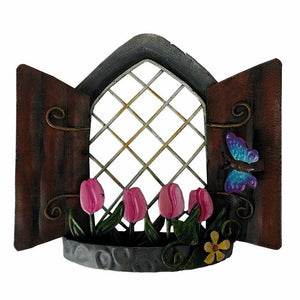 Tulip View Fairy Window Metal Home Decoration Ornament Pixie Elf House