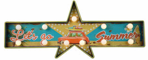 Vintage Metal 3D LED Logo Sign Beach Summer Vacation Man Cave Wall Plaque