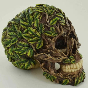 Greenman Skull Wiccan Pagan Altar Ornament Sculpture Figure Tree Man