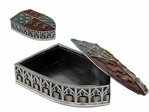 Medieval Style Shield Trinket Box Secrets Stash Knight Templar Style Ornament