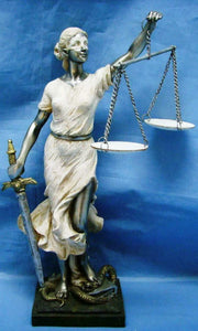 Lady of Justice Statue Lawyer Judge Gift Sculpture Office Ornament Decoration
