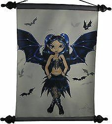 Art Scroll Bat Wings Fairy by Jasmine Beckett Griffith Wall Art Gothic Gift
