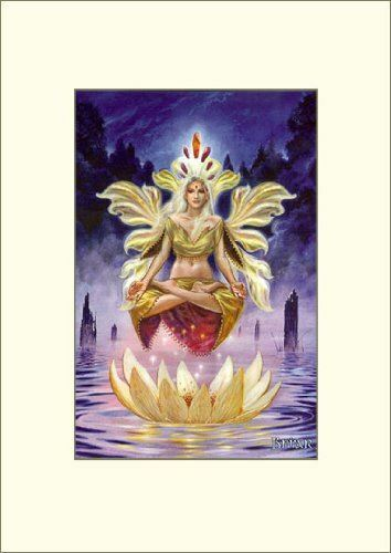 Venus of The Lotus Mounted Art Print