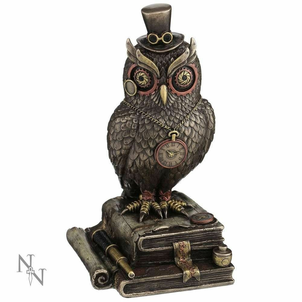 Nemesis Now Steampunk Owl Figure Ornament Time Wise 21 cms