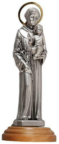 St Saint Anthony with Baby Jesus Statue Religious Ornament Figurine
