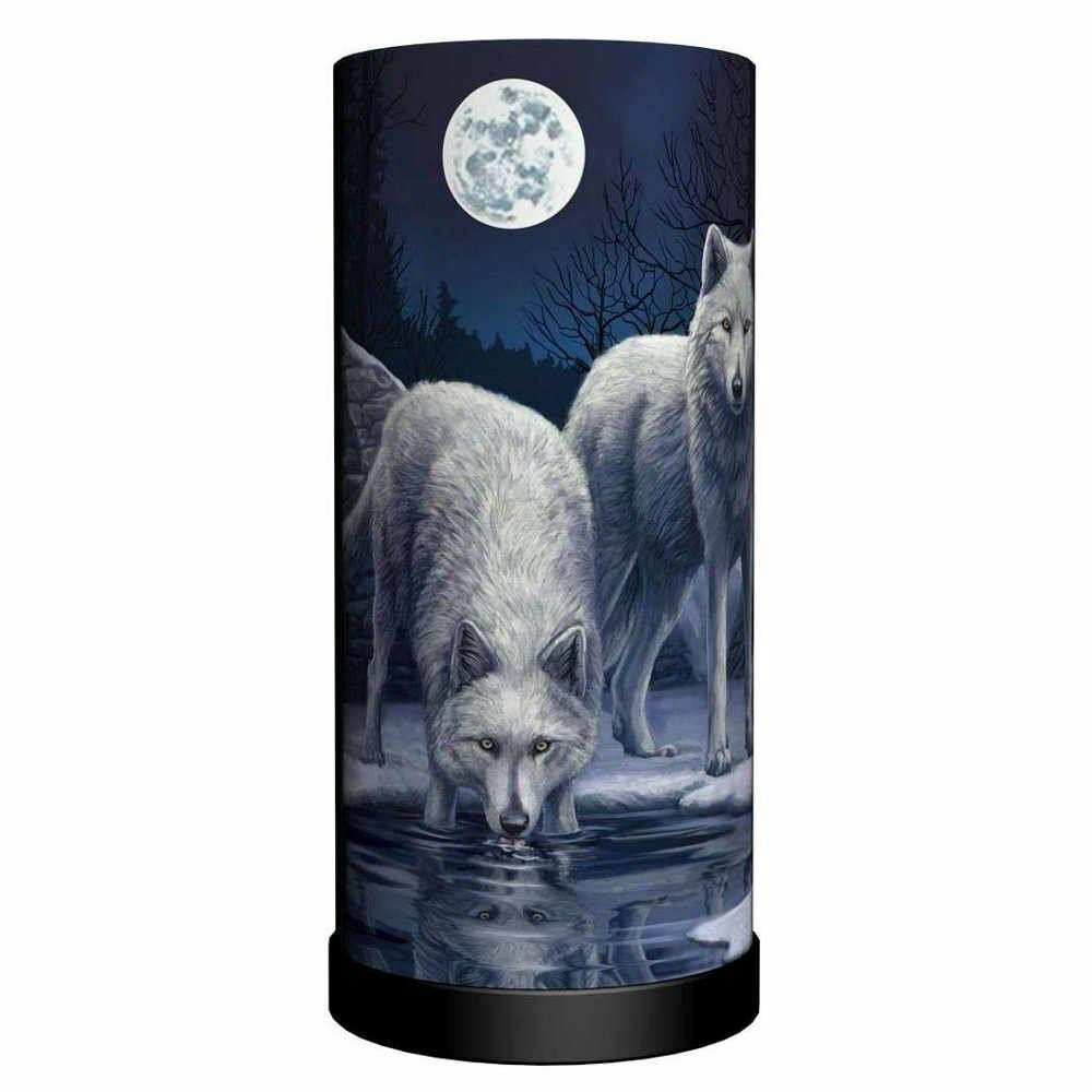 Lisa Parker - Warriors of Winter - Lamp - Nemesis - Wolf Lamp 30 cm