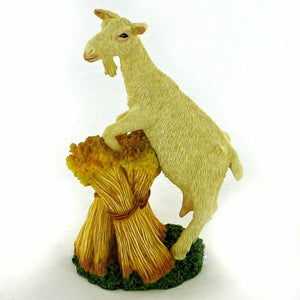 Goat on Stook Bowbrook Collectable Figurine Small Statue or Home Decoration