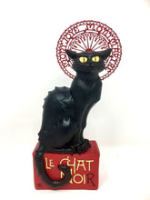 Load image into Gallery viewer, Le Chat Noir Black Cat Statue Steinlen Sculpture Museum Reproduction Inspired