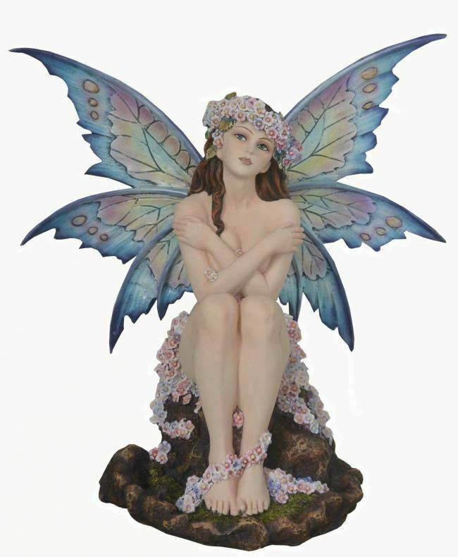 Large Sitting Fairy Sculpture Statue Mythical Creatures Figure Gift Ornament