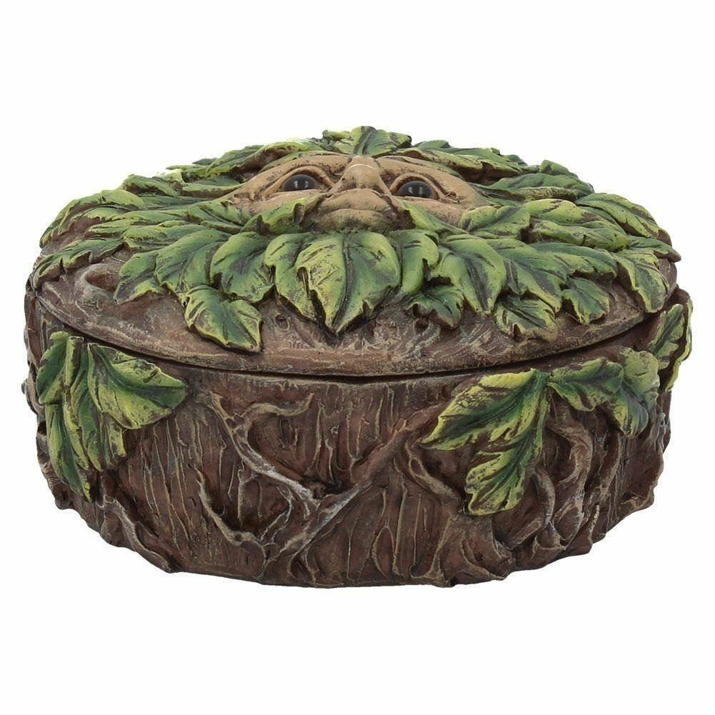 Green Man Eyes of the Forest Trinket Box Tree Man Wiccan Pagan