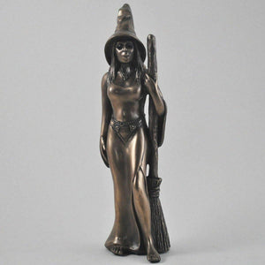 Bronze Witch Sculpture Statue Witchcraft Pagan Figure Wiccan Ornament Gift