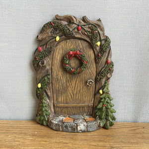 Christmas Pixie, Elf, Fairy Door - Tree Garden Home Decor - Fun Quirky Gift
