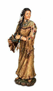 Large Native American Woman Figurine Indian Statue Ornament Home Decoration
