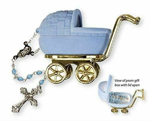 Christening Baby Boy Rosary Beads Baptism Rosary Beads Blue