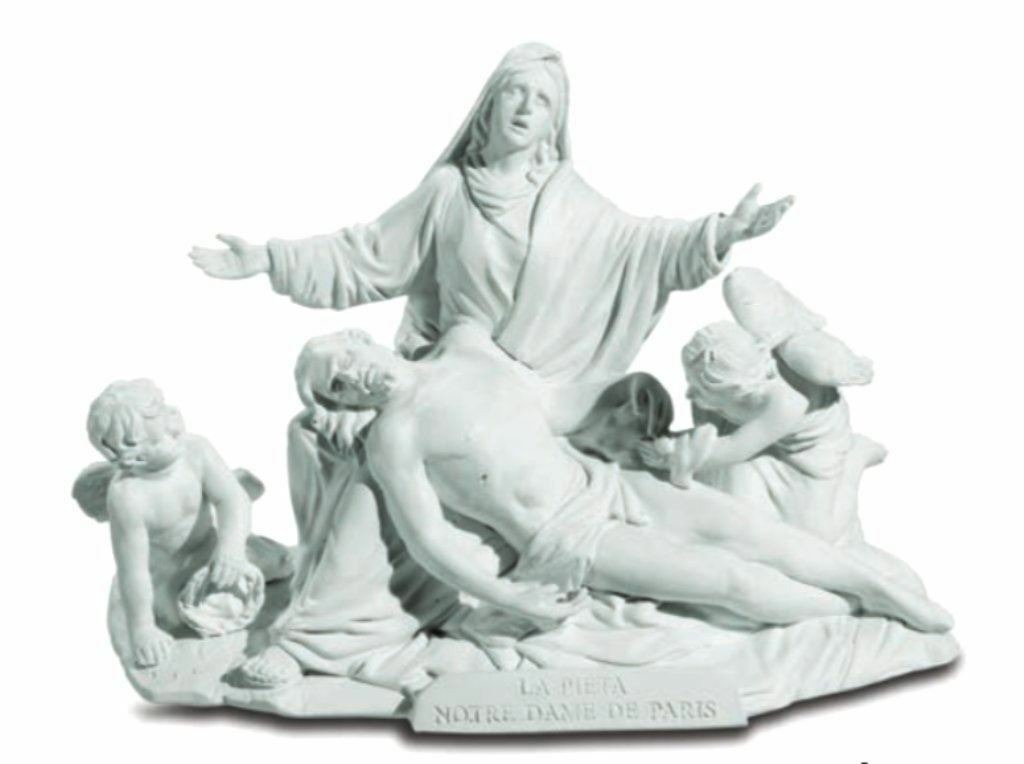 La Pieta Notre Dame Museum Reproduction Statue Of The Virgin Mary Holding Jesus