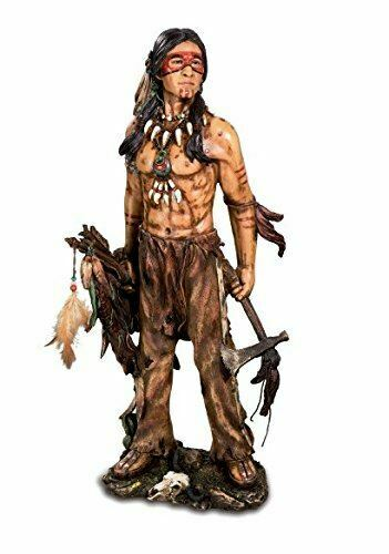 Large Realistic Effect Indian Holding Tomahawk 50 cm
