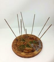 Load image into Gallery viewer, Pagan Wheel of the Year Pagan Incense Holder Wiccan Altar Sculpture Decoration
