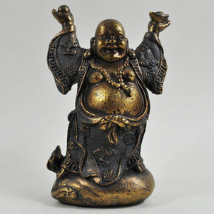 Fat Laughing Lucky Buddha Budai Ornament Statue Spiritual Home Decoration