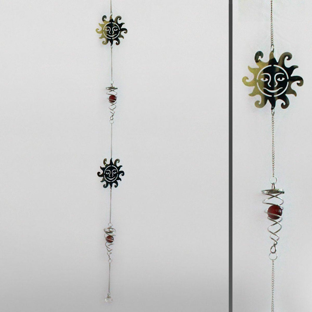 Metal Sun Catcher Ornament Hanging Home Garden Decoration Gift Windchime Mobile