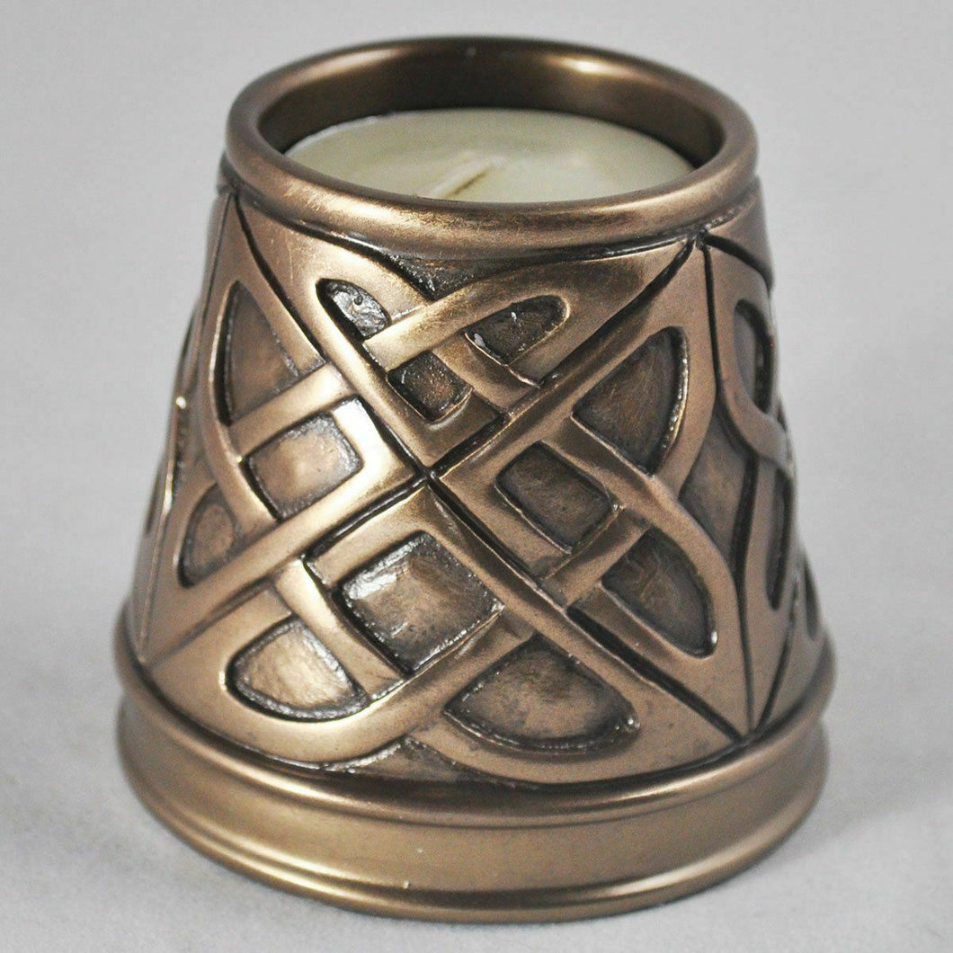 Bronze Celtic Candle Holder Altar Ornament Wiccan Pagan Druid Decor