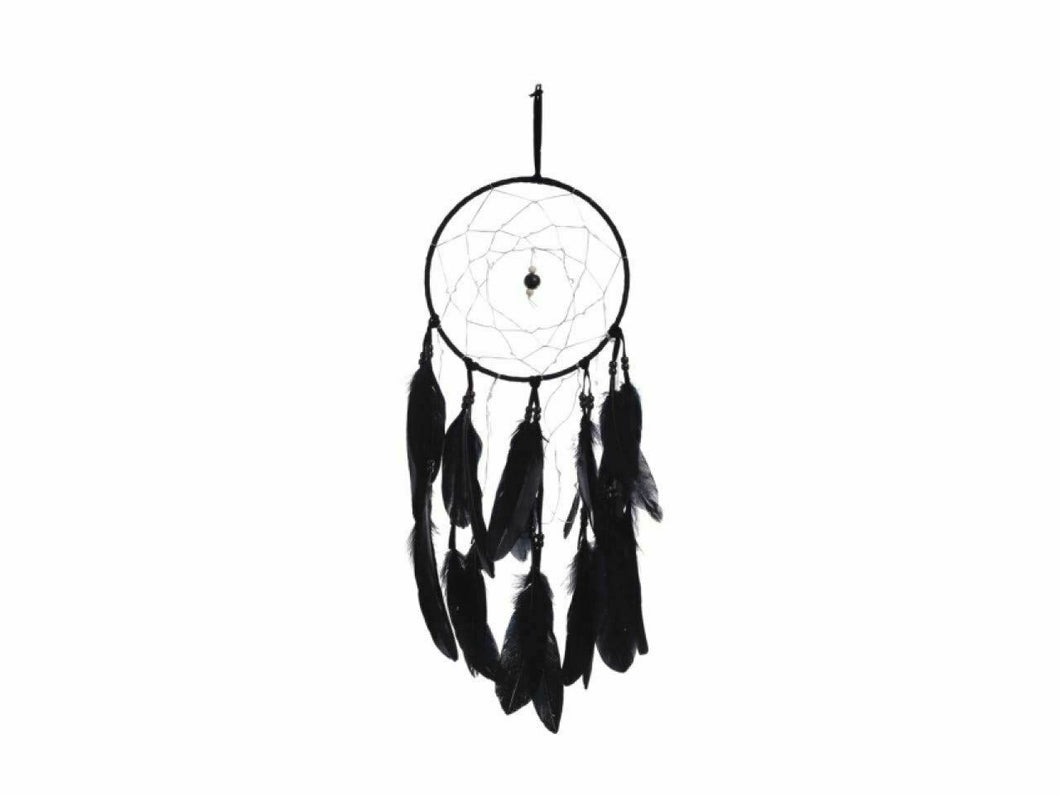 Onyx Dreams Black Stone Dreamcatcher Wall Hanging Decoration 20cm