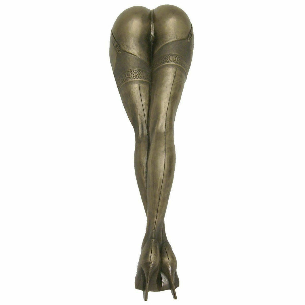 LARGE Lady Legs in Stockings Wall Plaque Erotic Art Sculpture Statue Decoration