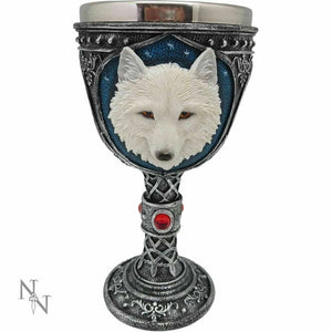 Gothic Ghost Wolf Goblet Large Chalice Ornament Home or Kitchen Decoration