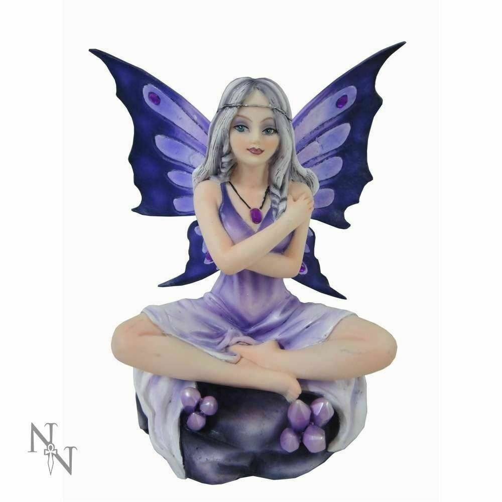 Amethyst Lotus Purple Fairy Figurine Statue Sculpture Magical Ornament 14cm