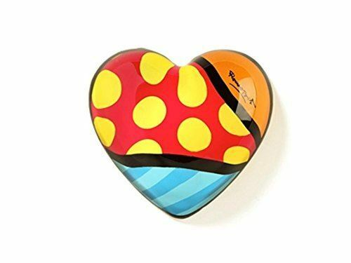 Decorative Deluxe Paperweight Pop Art Heart by Romero Britto