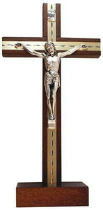 Free Standing Crucifix Wood Jesus Wall Cross Ideal Religious Gift