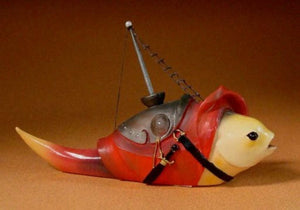 Fish with Mast Hieronymus Bosch Statue Sculpture Museum Reproduction