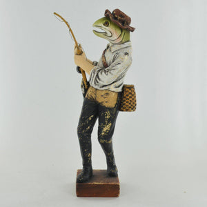 The Fishing Rainbow Trout Statue Vintage Novelty Decor Steampunk Dapper Animals