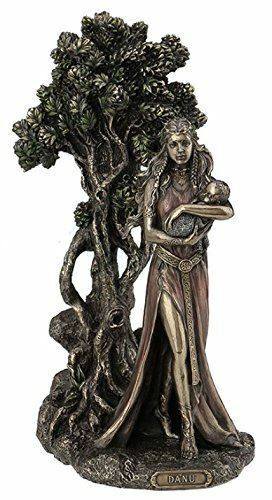 Danu Celtic Mother Irish Goddess of Abundance Figurine Pagan Statue Wiccan Gift