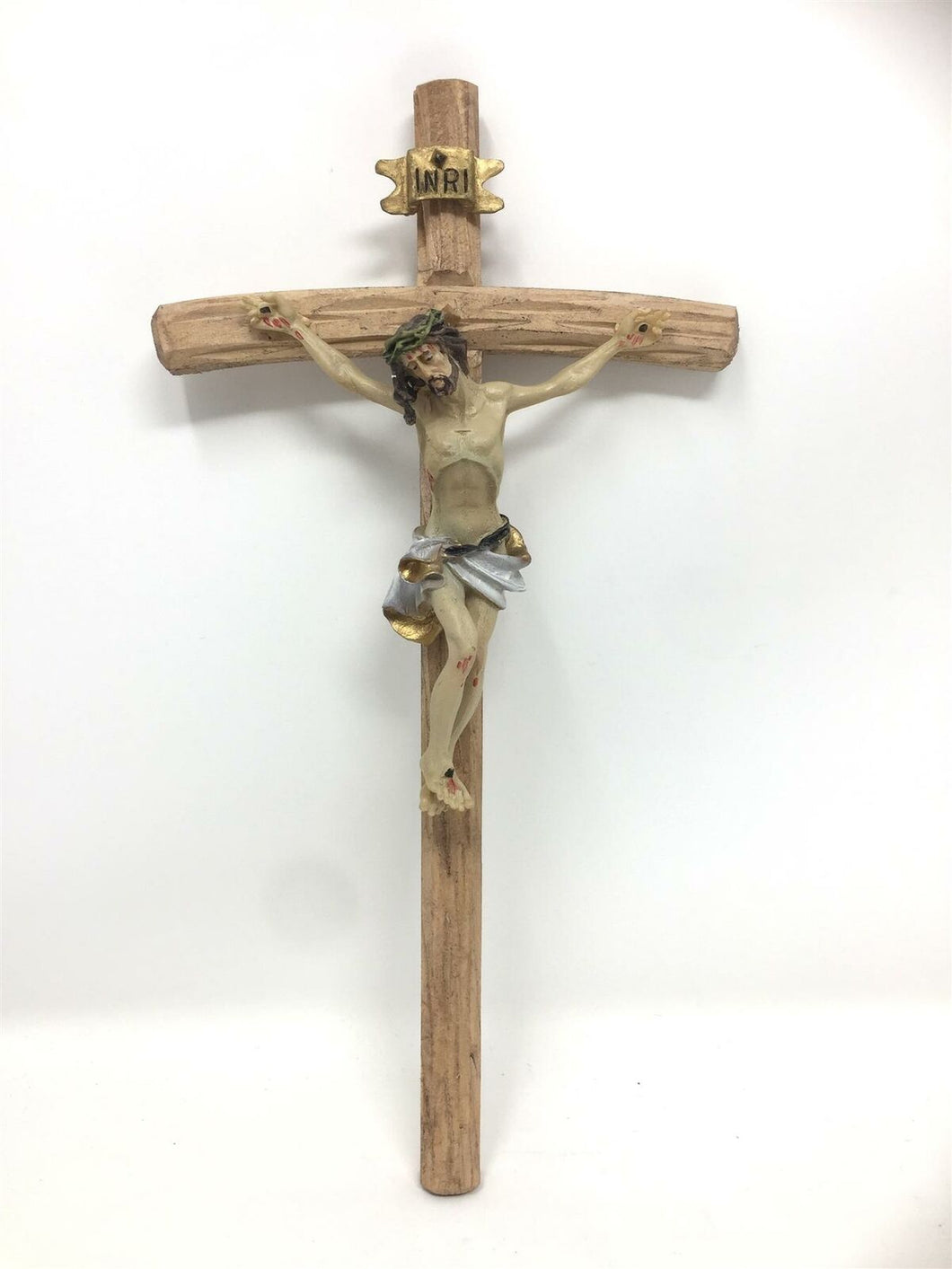 Wooden Crucifix Hanging Cross Jesus Christ Religious Wall Ornament