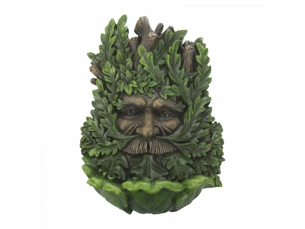 Wise Oak Tree Spirit Wall Plaque Pagan Wiccan Green Man Decoration