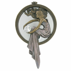 Art Deco Style Lady Mirror Plaque Wall Decor