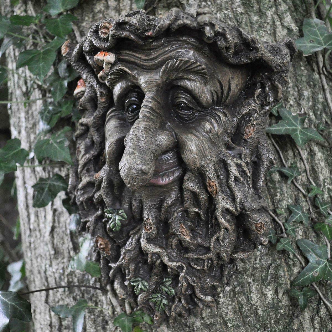 Treant Face Wall Plaque Large Garden Greenman Decorative Garden Ornament
