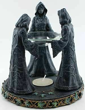 Magic Circle Oil Burner Mother Maiden Crone Wicca Pagan