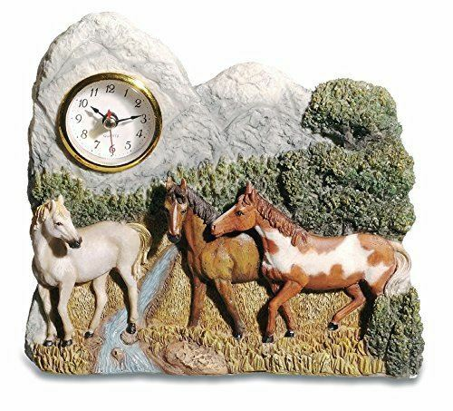 Novelty Horses in Nature Clock Horse Eqestrian Gift Ornament Decoration