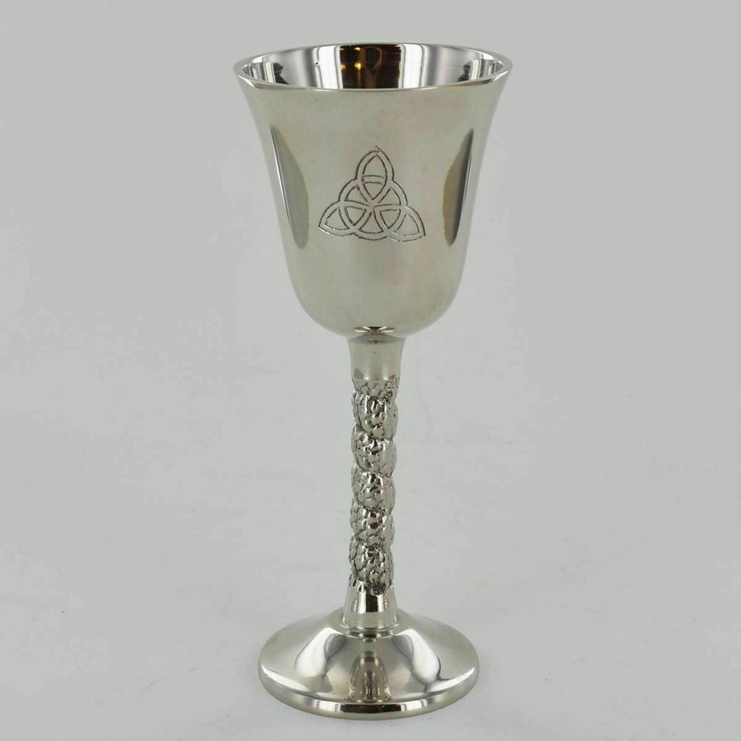 Pagan Triquetra Goblet Wicca Chalice Altar Ritual Ornament Goddess Decor