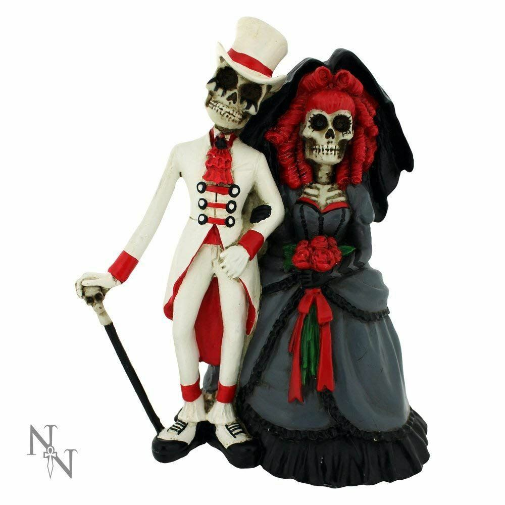 Forever By Your Side Skeleton Couple Figurine Statue Ornament Wedding Gift