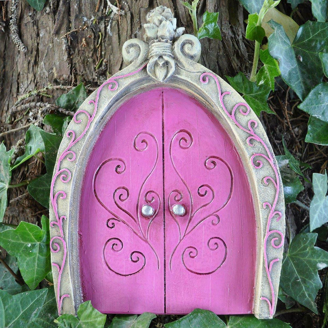 PINK Fairy Door Pixie Elf Home Tree Garden Home Decoration