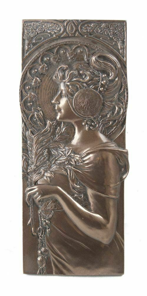BEAUTIFUL ART DECO STYLE WALL PLAQUE COLD CAST BRONZE WALL ART BRAND NEW