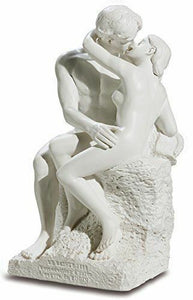 Classic Styled Lovers Sculpture Entitled The Kiss Inspired from Rodin