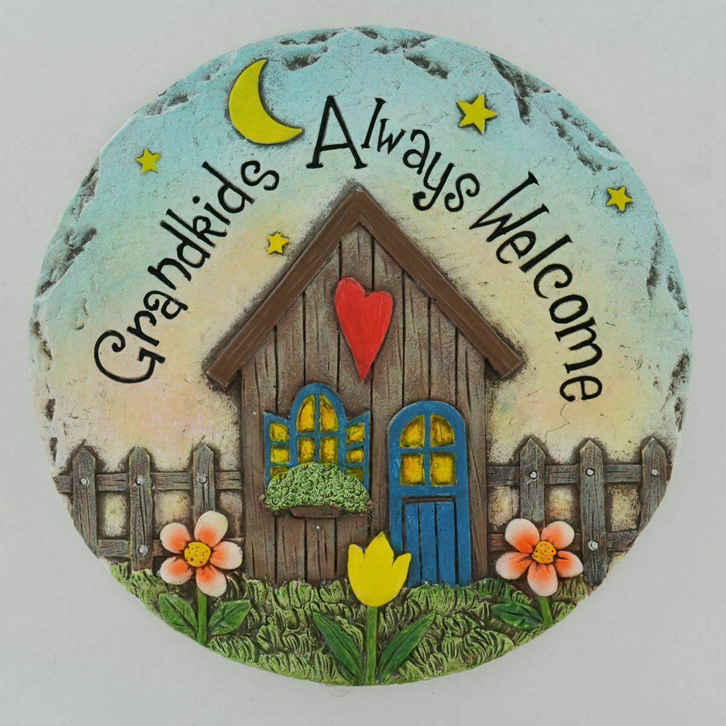 Grandkids Always Welcome Stepping Stone Garden Ornament or Wall Plaque Gift